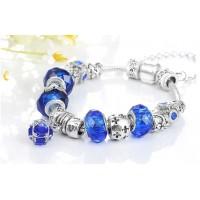 Aproce ar pērlītēm Zils