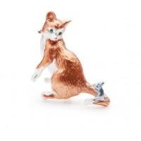 Broša.Kaķis ar peli